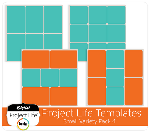 Project Life Templates Small Variety Pack 4