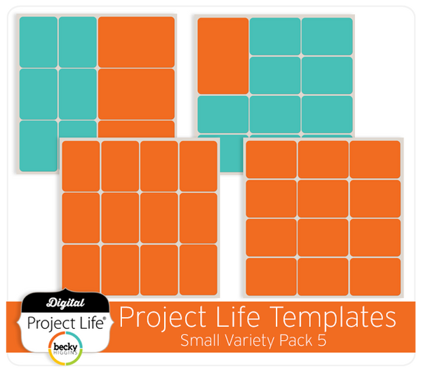 Project Life Templates Small Variety Pack 5