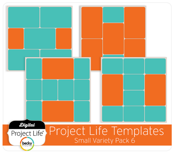 Project Life Templates Small Variety Pack 6