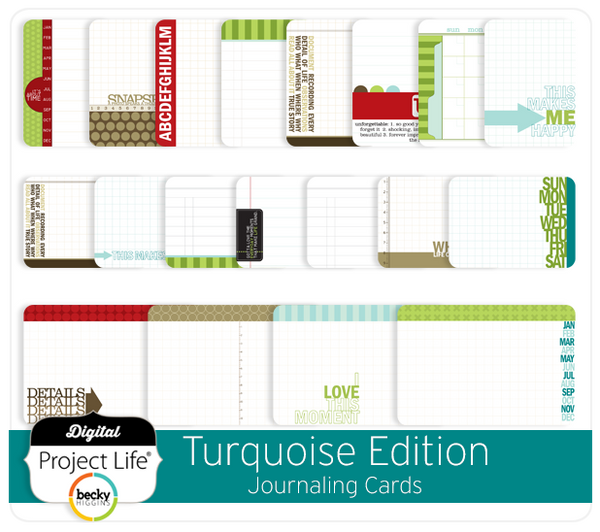 Turquoise Edition Journaling Cards