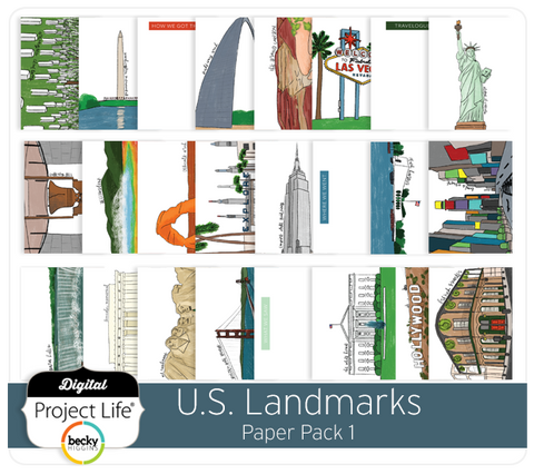 U.S. Landmarks Themed Cards