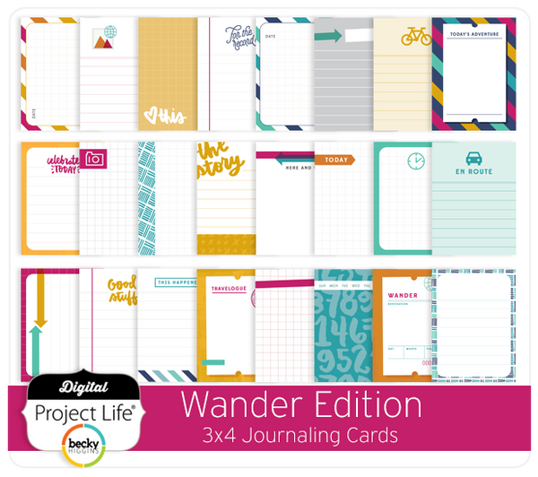 Wander Edition 3x4 Journaling Cards