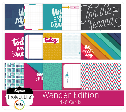 Wander Edition 4x6 Cards