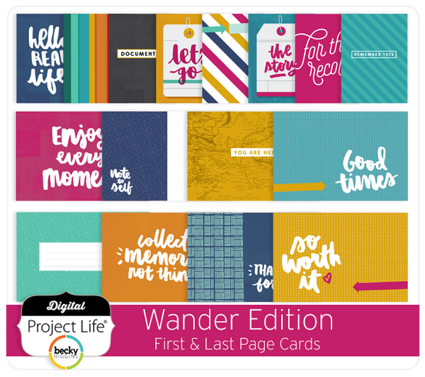 Wander Edition First & Last Page Cards