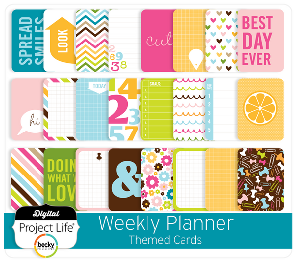 Weekly Planner Themed Cards