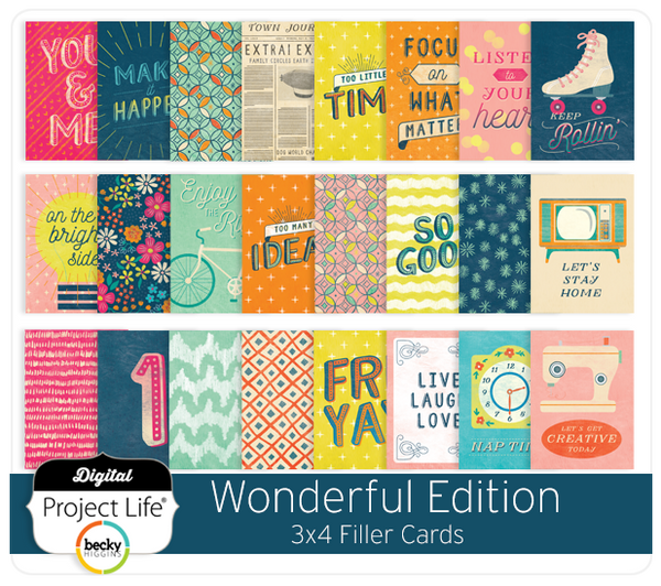 Wonderful Edition 3x4 Filler Cards