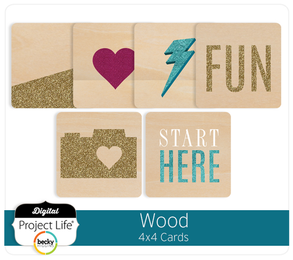 Wood 4x4 Cards