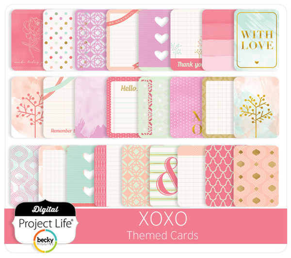 XOXO Themed Cards