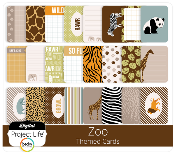 Zoo Themed Cards