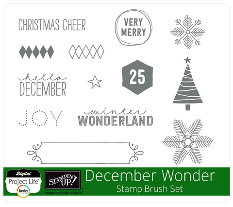 December Wonder Stamp Brush Set
