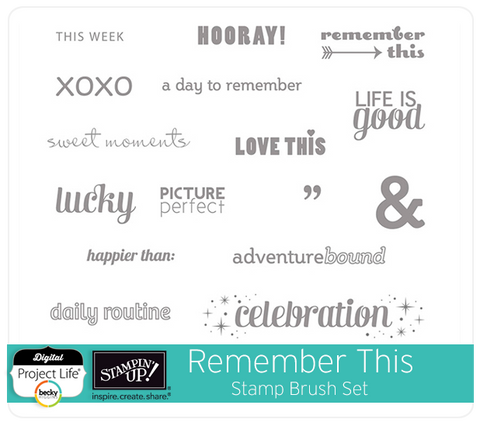 Remember This Project Life® Stamp Brush Set