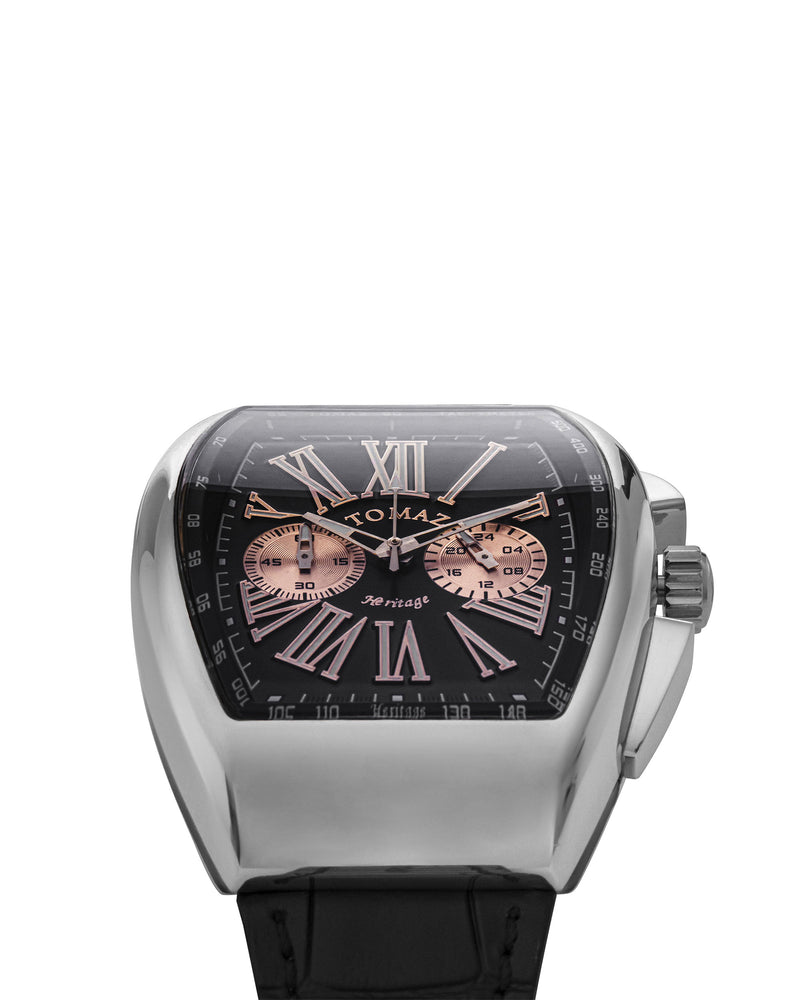 Load image into Gallery viewer, Tomaz TQ012-D1 Men's Watch (Silver/Black)