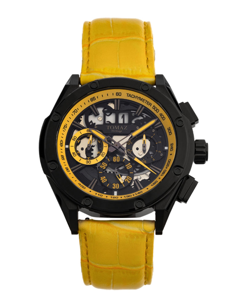 Tomaz Men's Watch RAWR III (Yellow) best men watch, automatic watch for men, Trending men watch, Luxury watch, Watches of Switzerland, automatic watch for men, jam tangan lelaki, jam tangan automatik, jam kronograf