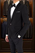 Tomaz 1455-2 Single Breasted Blazer (Black) suits for men, blazer, blazer for men, blazer murah, blazer lelaki, casual blazer blazer coat, black blazer, tuxedo, tux, tuxedo suit, tuxedo Malaysia murah, blazer bawah RM 300