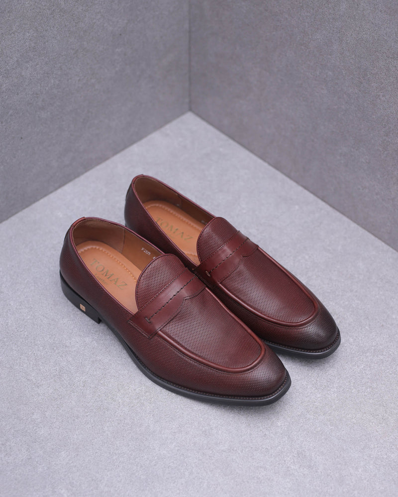 Tomaz F209 Saddle Loafers (Wine)