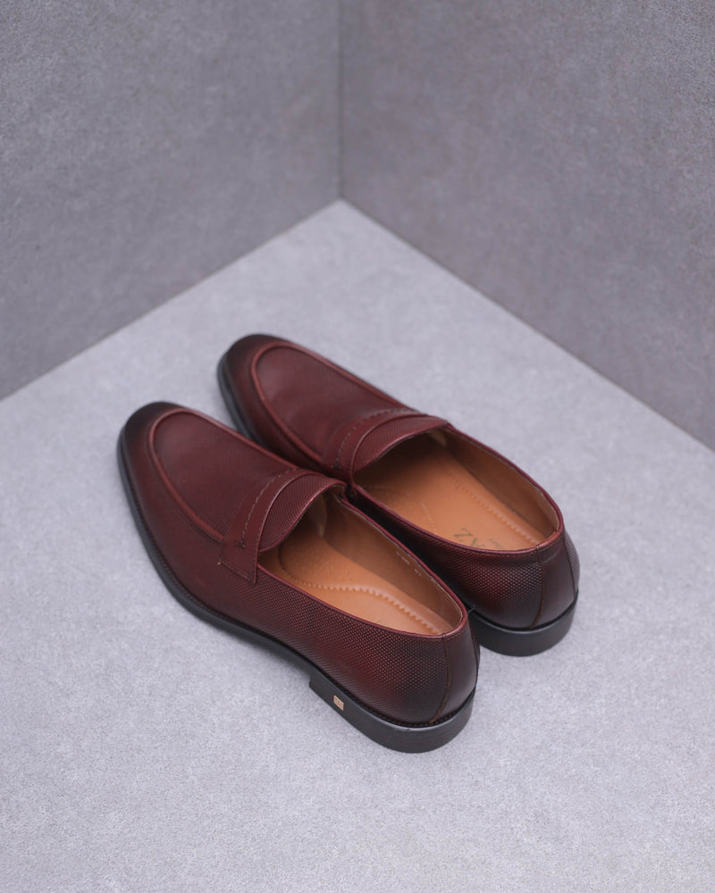Load image into Gallery viewer, Tomaz F209 Saddle Loafers (Wine)