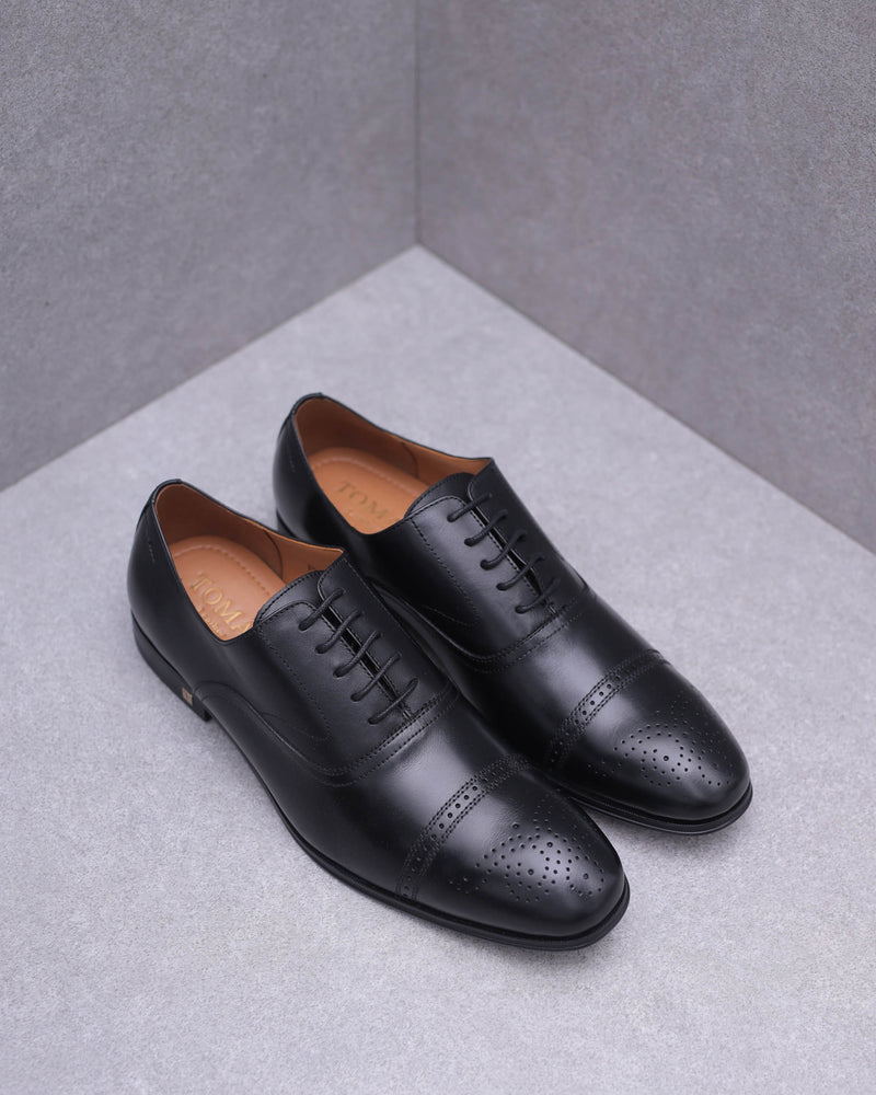 Tomaz F211 Brogue Oxford Lace Up (Black)