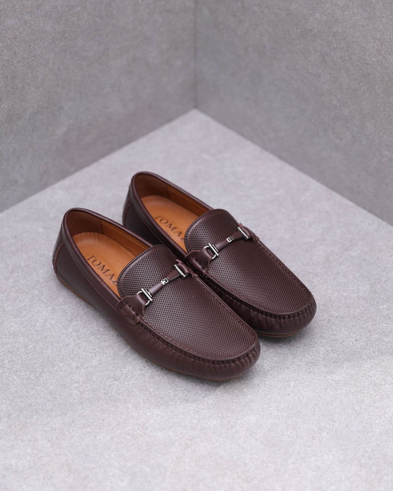 Tomaz C361 Front Buckled Loafers (Coffee)