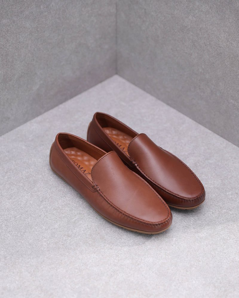 Tomaz C477 Leather Moccasins (Coffee)