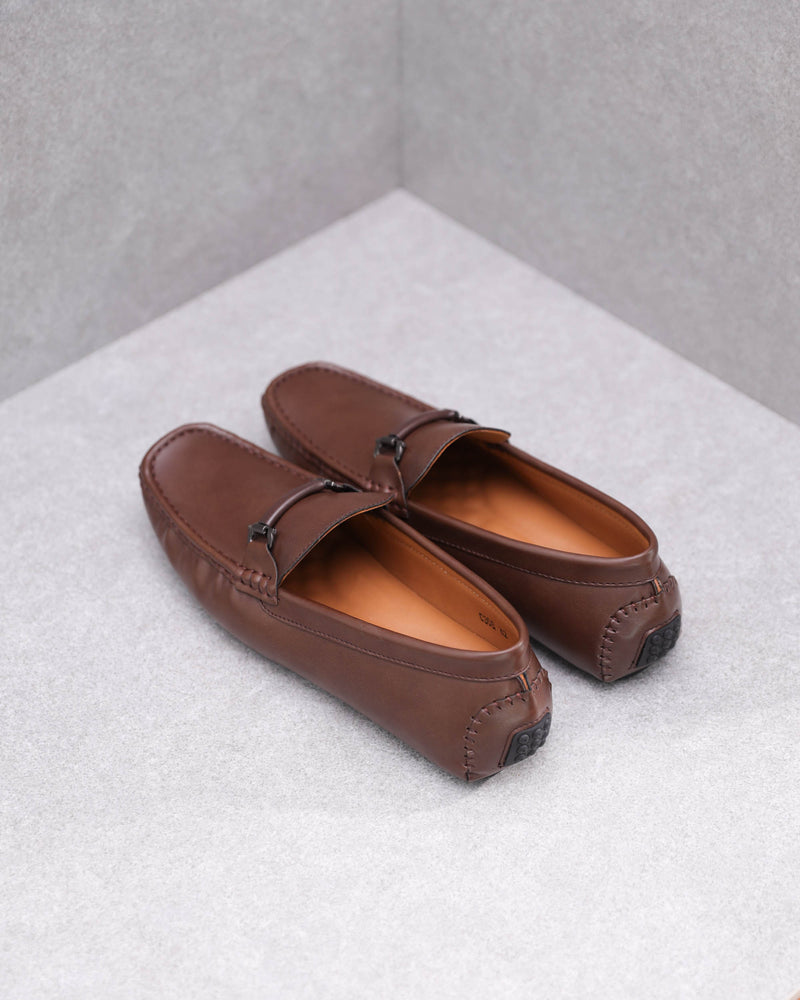 Load image into Gallery viewer, Tomaz C368 Buckled Loafers (Coffee)