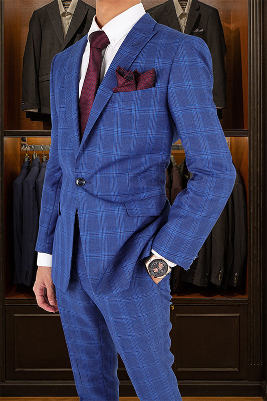 Tomaz 1730-16 Checkered Tomaz Single Breasted Blazer (Blue) suits for men, blazer, blazer for men, blazer murah, blazer lelaki, casual blazer blazer coat, black blazer, tuxedo, tux, tuxedo suit, tuxedo Malaysia murah, blazer bawah RM 300