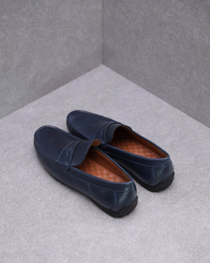 Load image into Gallery viewer, Tomaz C408 Penny Loafers (Navy)