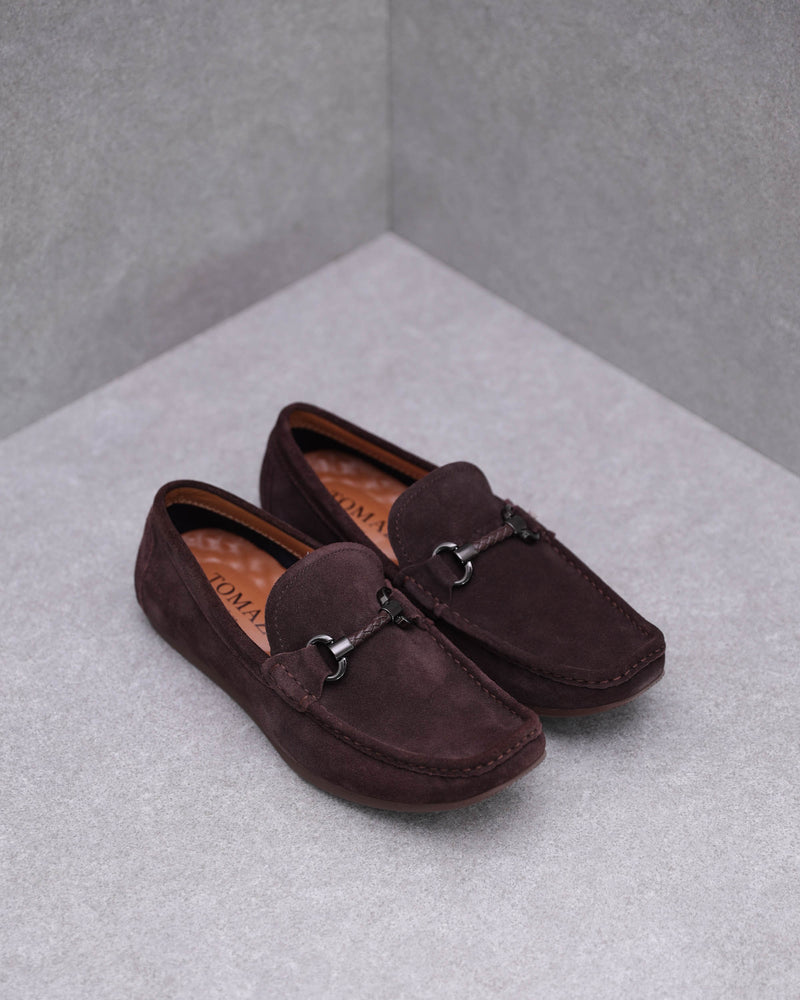 Tomaz C381 Braided Buckle Moccasins (Coffee)