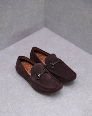 Load image into Gallery viewer, Tomaz C381 Braided Buckle Moccasins (Coffee)