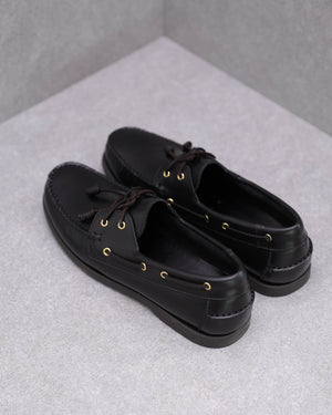 Load image into Gallery viewer, Tomaz BF999A Boatshoes (Black)