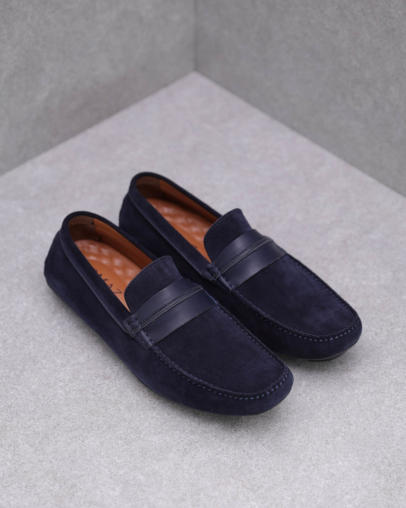 Load image into Gallery viewer, Tomaz C449 Penny Moccasins (Navy)