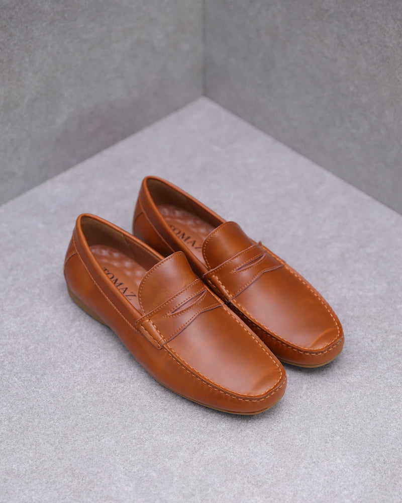 Tomaz C408 Penny Loafers (Brown)
