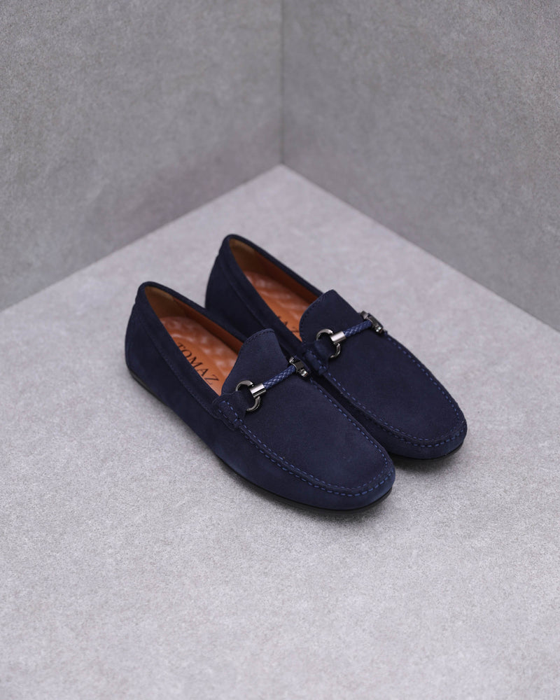 Tomaz C388 Buckled Moccasins (Navy)