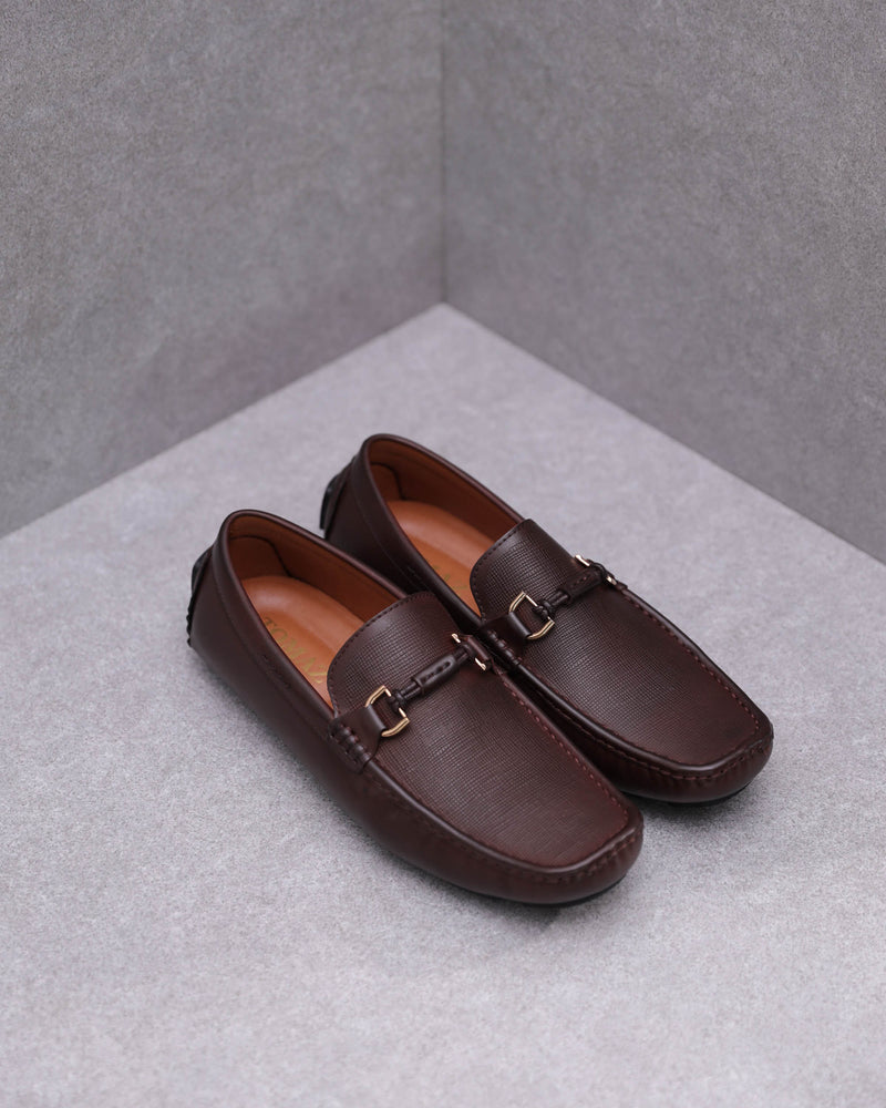 Tomaz C443 Buckle Moccasins (Coffee)