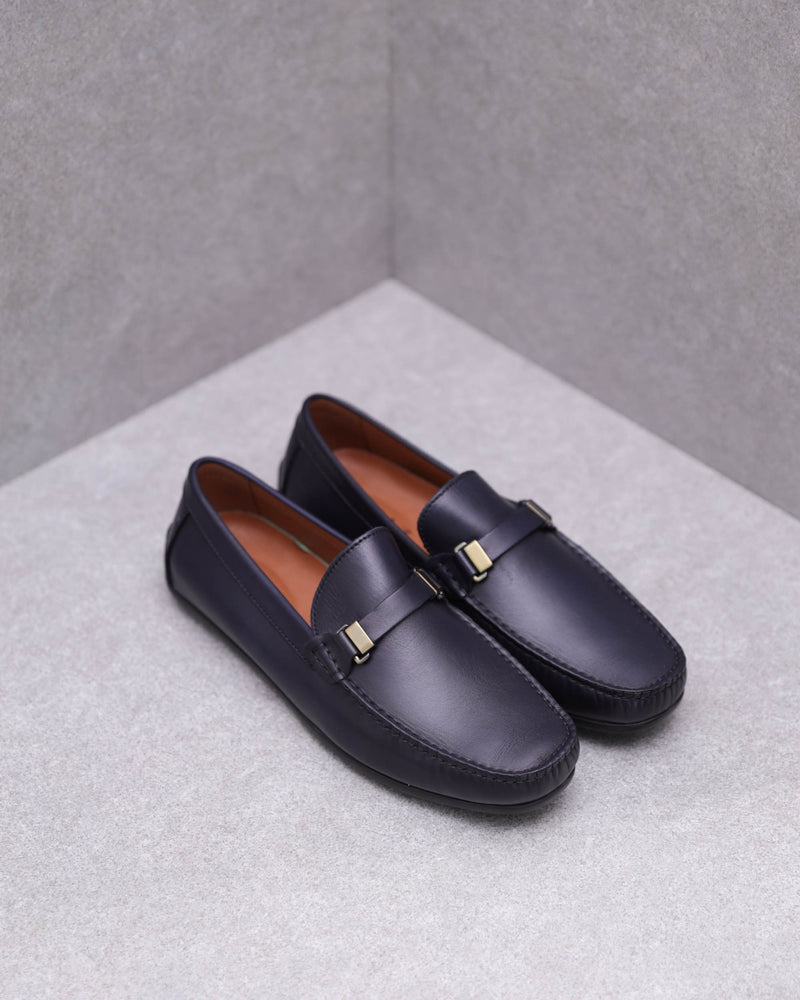 Tomaz C362 Front Buckled Loafers (Navy)