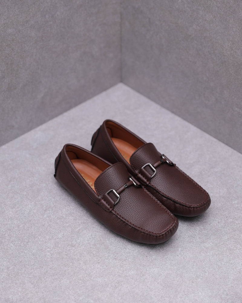 Tomaz C446 Buckle Moccasins (Coffee)