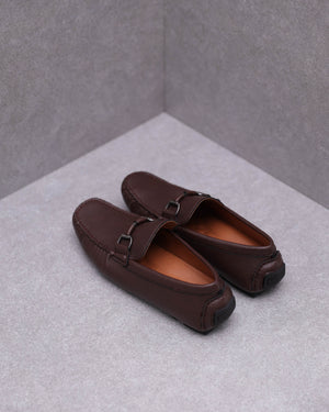 Load image into Gallery viewer, Tomaz C446 Buckle Moccasins (Coffee)