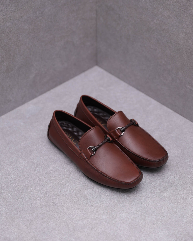 Tomaz C456 Buckle Moccasins (Coffee)