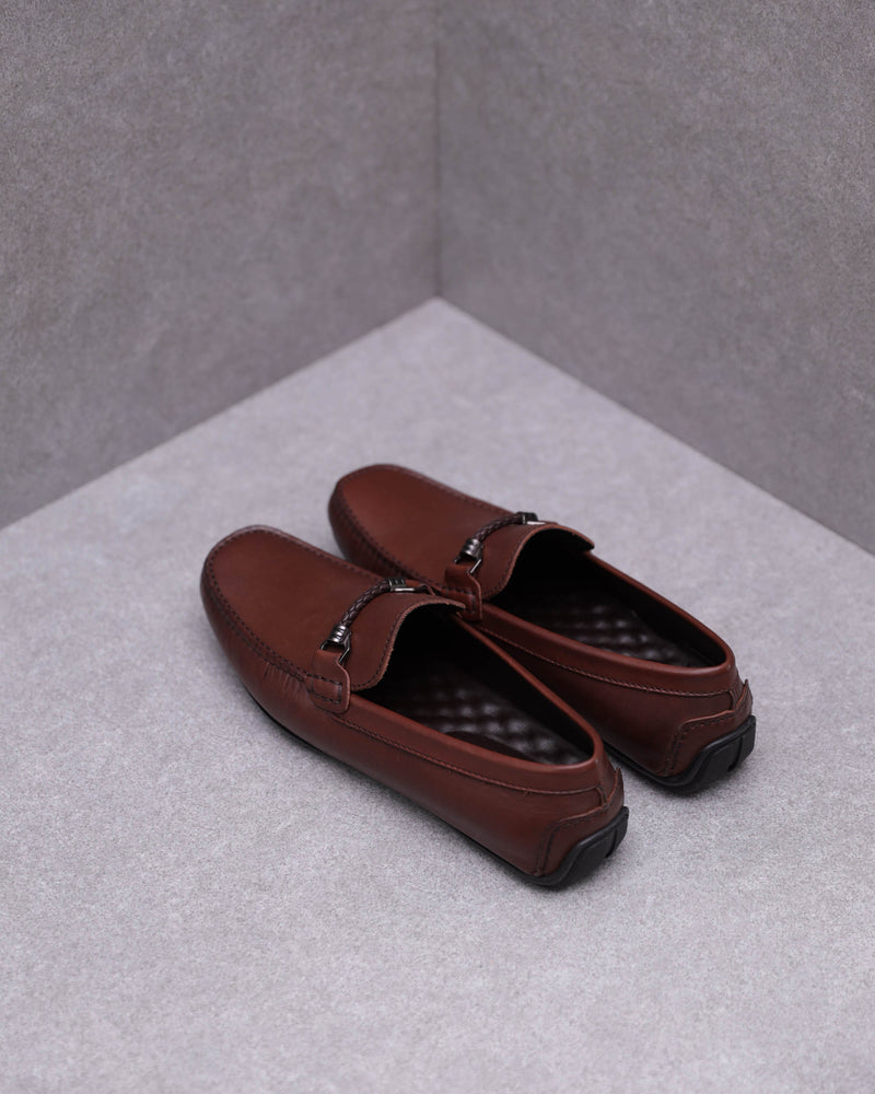 Load image into Gallery viewer, Tomaz C456 Buckle Moccasins (Coffee)