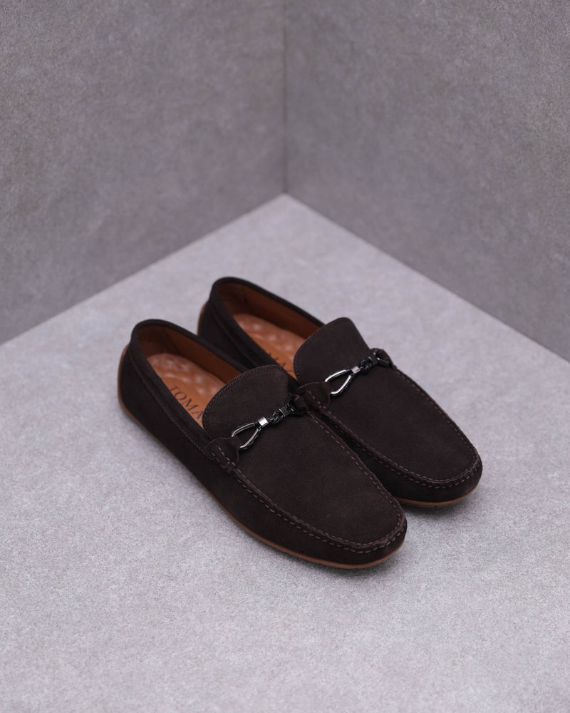 Load image into Gallery viewer, Tomaz C401 Buckle Suede Moccasins (Coffee)