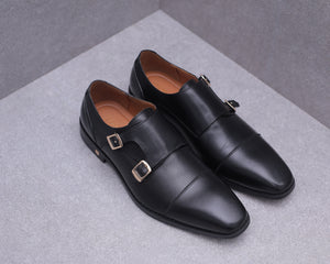 Load image into Gallery viewer, Tomaz F217 Monkstrap Formals (Black)