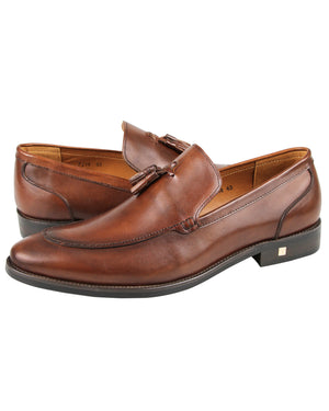 Load image into Gallery viewer, Tomaz F214 Tassel Loafers (Brown)