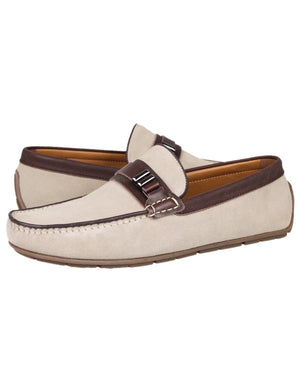 Load image into Gallery viewer, Tomaz C336 Front Buckled Loafers (Beige)