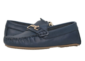 Tomaz C327 Buckle Loafers (Blue) (Kids) - Tomaz Shoes