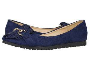 Tomaz LY32 Suede Leather (Navy) - Tomaz Shoes