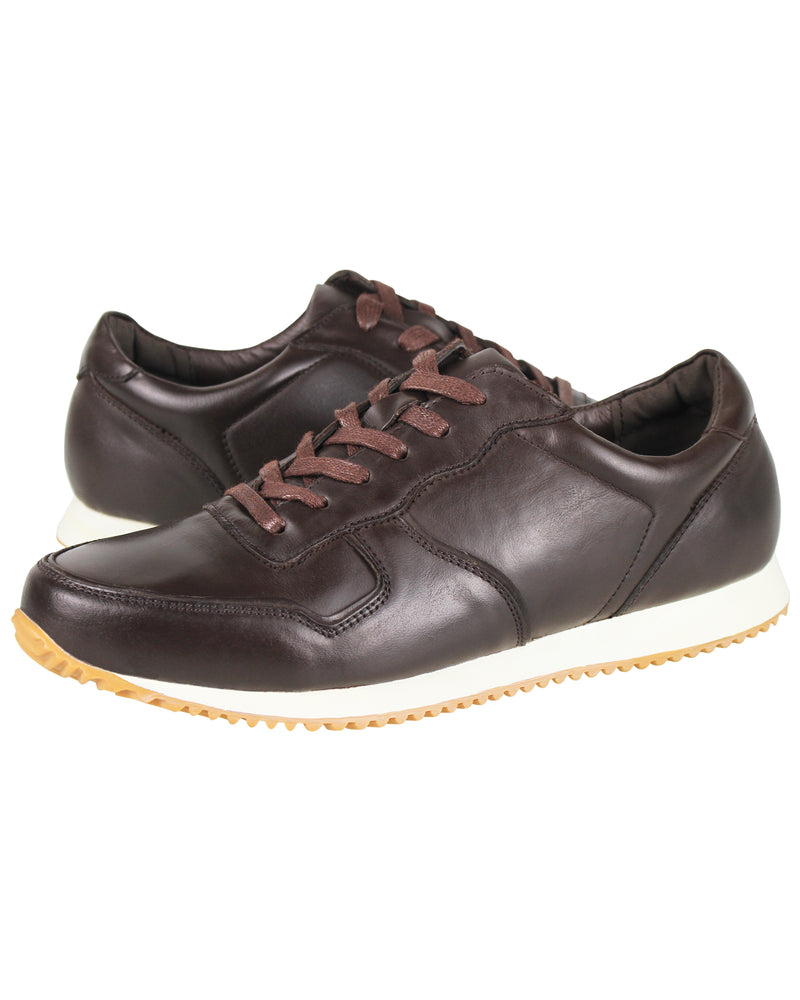 Load image into Gallery viewer, Tomaz C321 Leather Sneakers (Coffee)
