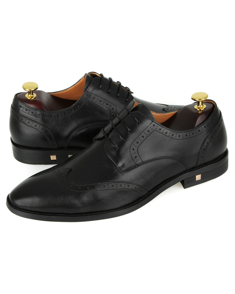 Load image into Gallery viewer, Tomaz F242 Wingtip Formals (Black) men shoe, men's shoe, men's italian dress shoes, men's dress shoes guide, men's dress shoes near me, dress shoes men, famous footwear near me, famous footwear locations, shoe store near me, best formal shoes, formal shoes