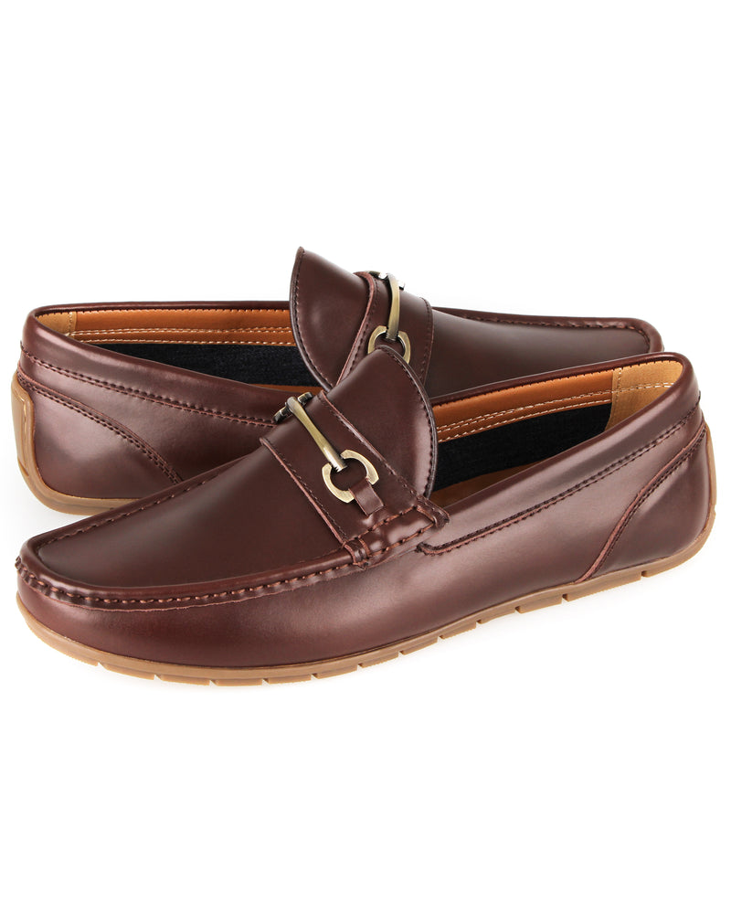 Load image into Gallery viewer, Tomaz C380 Buckle Moccasins (Coffee) men's shoes casual, men's dress shoes, discount men's shoes, shoe stores, mens shoes casual, men's casual loafers men's loafers sale, men's dress loafers, shoe store near me.