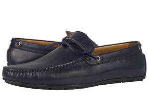 Tomaz C332 Slip On Loafers (Navy) - Tomaz Shoes