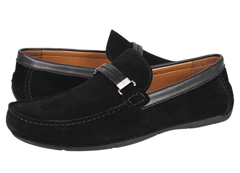 Load image into Gallery viewer, Tomaz C337 Braided Buckled Loafers (Black) - Tomaz Shoes (791336419417)