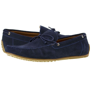 Tomaz BF002 Suede Moccasins (Navy) - Tomaz Shoes